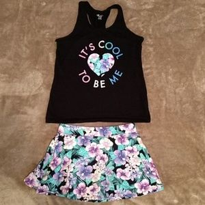 Girl's tank and skort outfit The Children's Place